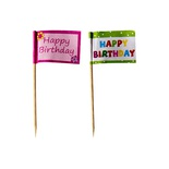 20 Stecchini per party 8 cm ''Happy Birthday''