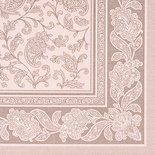 50 Tovaglioli cm 40x40 ''ROYAL Collection'' piega 1/4  ''Ornaments'' mocca