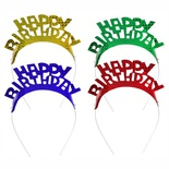 4 Cerchielli colori assortiti ''Happy Birthday''