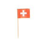 100 Stecchini per party 8 cm lunghezza,  ''Switzerland''