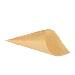 50 Coppette conica ''Fingerfood'' di legno ''PURE'' Ø 9,5 cm · 18 cm