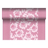 Centrotavola in rotolo 24 m x 40 cm, effetto tessuto, PV-Tissue Mix ''ROYAL Collection'', decoro ''Adele'' fuxia