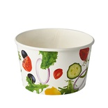 "50 Insalatiere, cartone ""To Go"" 600 ml Ø 12,5 cm · 7,5 cm ""Salad"""