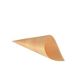 50 Coppette coniche ''Fingerfood'' di legno ''PURE'' Ø 6,5 cm · 12,5 cm