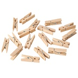 100 Mini mollette, legno 3,5 cm naturale