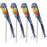 100 Stecchini per party 18 cm ''Parrot''