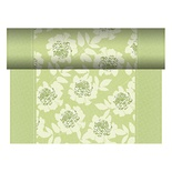 Centrotavola in rotolo 24 m x 40 cm, effetto tessuto, PV-Tissue Mix ''ROYAL Collection'', decoro ''Adele'' verde