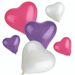 12 Palloncini colori assortiti ''Heart'' small + medium