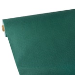 Tovaglia in rotolo 25 m x 1,18 m, tessuto non tessuto ''soft selection plus''  verde scuro