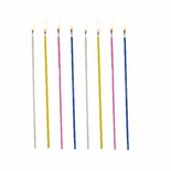 18 Candele sottili Ø 3 mm · 16,5 cm colori assortiti