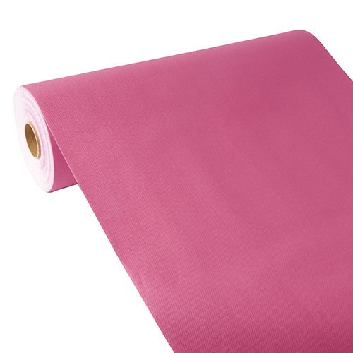 Centrotavola in rotolo 24 m x 40 cm, effetto tessuto, PV-Tissue Mix ''ROYAL Collection''  fuxia