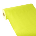 Centrotavola in rotolo 24 m x 40 cm, effetto tessuto, PV-Tissue Mix ''ROYAL Collection''  verde limone