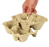 360 Vassoio in carta  ''To Go'' per 2 bicchieri, 5 cm x 20 cm x 12 cm ''Click & Carry''