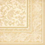 50 Tovaglioli  cm 40x40 ''ROYAL Collection'' piega 1/4  ''Ornaments'' champagne