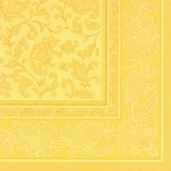 20 Tovaglioli  cm 40x40 ''ROYAL Collection'' piega 1/4 decoro ''Ornaments'' giallo