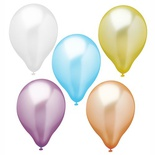 10 Palloncini Ø 25 cm colori assortiti ''Pearly''
