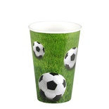 "10 Bicchieri di carta 0,2 l Ø 7 cm · 9,7 cm ""Football"""